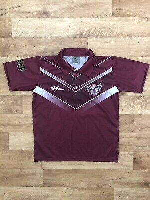 Manly Warringah Sea Eagles Polo Shirt NRL Golden Eagles Men's Size Small S