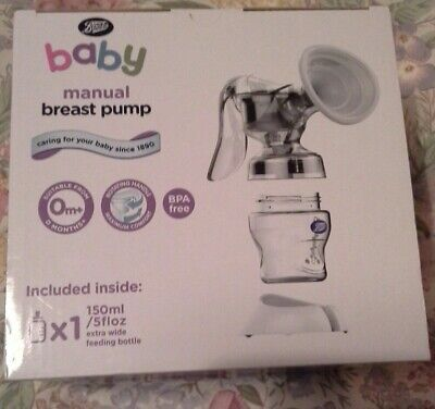 New - Boots Manual Breast Pump