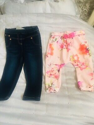 Ted Baker Floral Trousers And Next Jeggings Jeans (bnwt) Size 18-24 Small Bundle