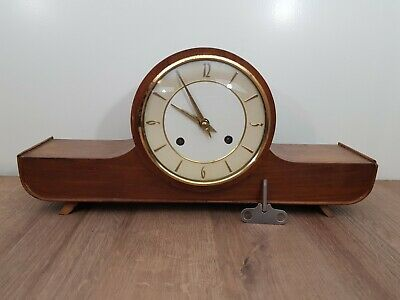 Vintage Mantle clock with Double Bell and loudspeaker, (1977)