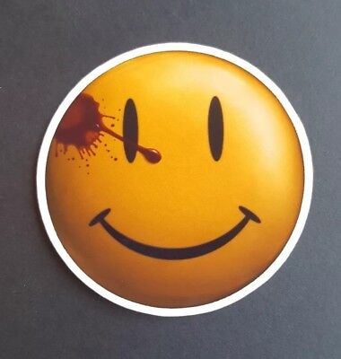 S106 Watchmen badge pin smiley movie film Sticker, laptop,wall,book,phone,tablet