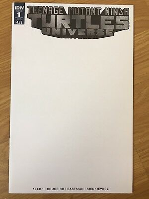 Teenage Mutant Ninja Turtles #1 Universe blank sketch variant cover IDW eastman