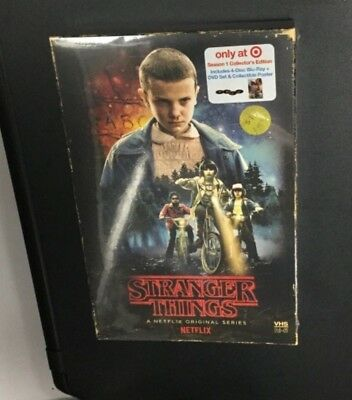 Stranger Things Season 1 Collectors Edition (4) Disc Blu-Ray + Poster, Target Ex