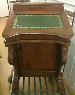 Davenport writing desk with side drawers internal small drawers & 3 x ink wells