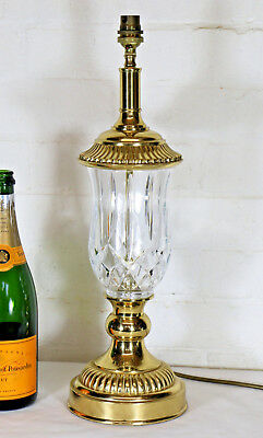 A Large Vintage Quality Cut Glass Table Lamp by Wisteria Lighting Antique Design