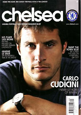 Chelsea Official Soccer Mag Jan 2007 - Must For Blues Fans! Cudicini Ft Vgc