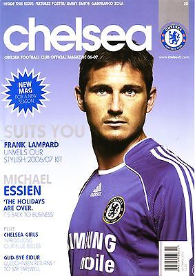 Chelsea Official Mag Sept 2006 - Must For Blues Fans! Lampard Ft Vgc
