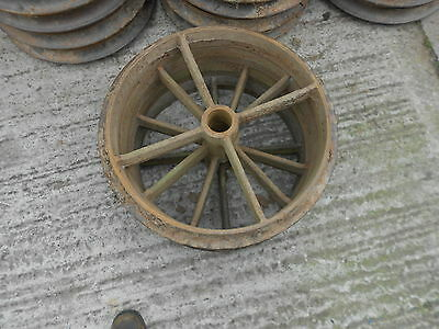 4cast iron wheel vintage antique garden ornament feature barn find shepherds hut