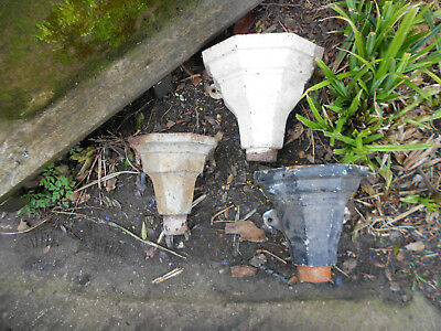 reclaimed cast iron gutter hoppers x3 rainwater barn find planters vintage old
