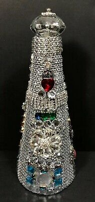 Handcrafted Repurposed Jewelry Lighthouse Christmas Tree