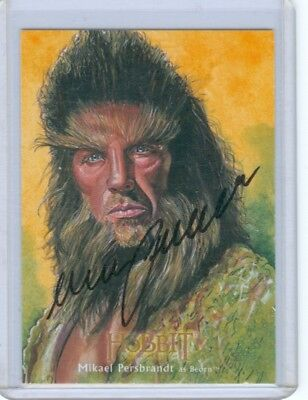 The Hobbit Desolation Smaug Illustrated Autograph Card Mikael Persbrandt Beorn