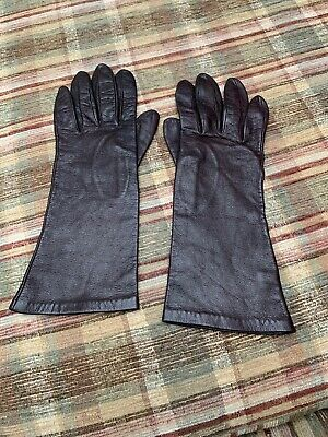 Leather Gloves From Bergdorf Goodman Silk Lined