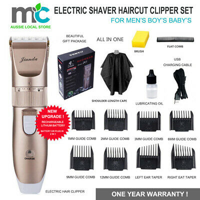 Electric Men's Boy's Baby Shaver Hair Clipper Trimmer Comb Set Grooming Cordless