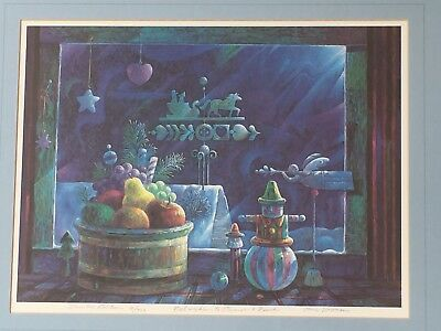 Tom Vroman Limited Edition Signed Christmas Lithograph Print 16/300 Lstd Artist