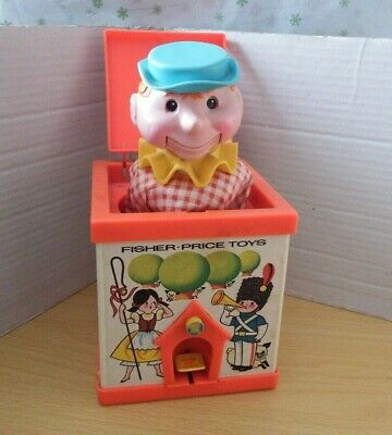 Vintage Retro 1970 Fisher Price Jack In The Box 138 -