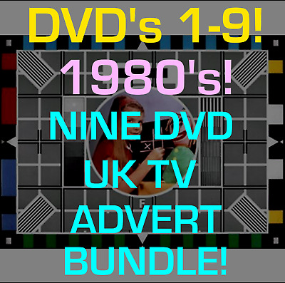 Classic 60's 70's 80's British UK TV Adverts 6 DVD SET RETRO NOSTALGIA VINTAGE