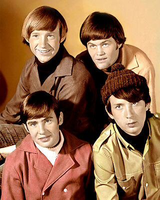 """LOT OF FIVE THE MONKEES AMERICAN POP ROCK BAND 8x10"""" HAND COLOR TINTED PHOTOS"""