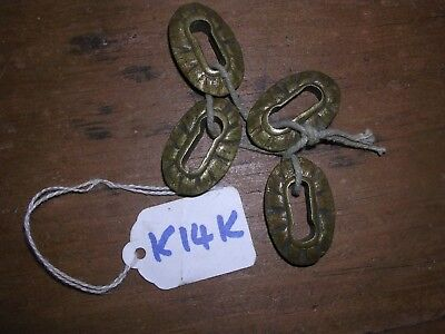 4 Antique Brass Inset Escutcheons (K14K)