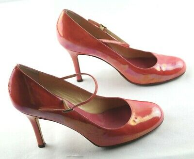 e25128156549 Kate Spade New York Mary Jane Pumps Womens Sz 7 Coral Pink High Heel Shoes