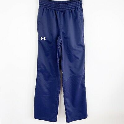 Under Armour Mens Athletic Basketball Warmup Pants Sz Small Loose Fit Navy Blue