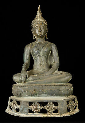 Early 20th Century SE Asia Sukhothai Thai Enlightenment Buddha Statue - 42cm/17""