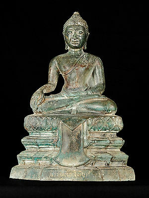 """Early 20th Century Antique Chiang Saen Enlightenment Buddha Statue - 36cm/14"""""""