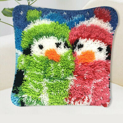 Animal Latch Hook Rug Kit Pillow Making Kits Crocheting Crafts for Beginners