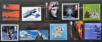 10 Royal Mail mint stamps 5 first class and 5 second class (valid for mailing)