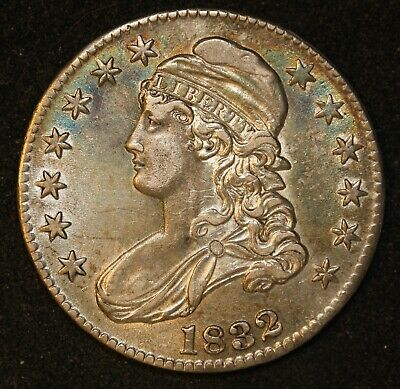 1832 50C Small Letters Capped Bust Half Dollar AU high grade