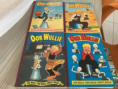 4 X Oor Wullie Annuals 1990, Unknown (think 1989), 1992 And 1994