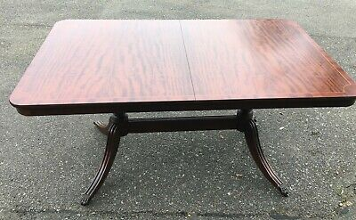 Vintage Solid Wood Extendable Dining Table seats up to 8 people made 1980