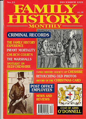 FAMILY HISTORY MONTHLY Magazine December 1999 - Criminal Records