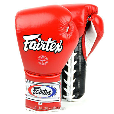 FAIRTEX BGL7 WHITE BLACK PALM MEXICAN STYLE LACE UP BOXING GLOVES MMA K1
