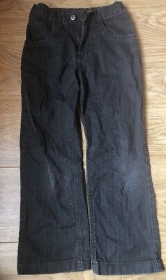 Boys Grey Jeans Size 8 Years Elasticated Waist Straight Leg MATALAN M208