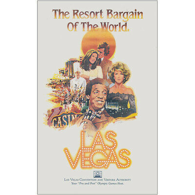 1983 Las Vegas, Nevada: Resort Bargain, Bill Cosby Vintage Print Ad