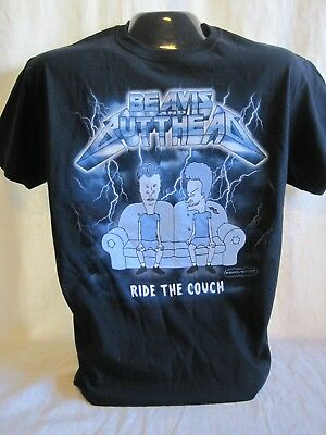 Beavis and Butt-Head T-Shirt Ride the Couch Animated Sitcom MTV Butthead New 75