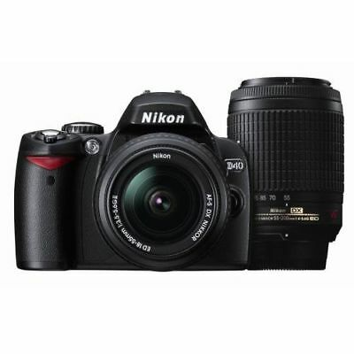 Near Mint! Nikon D40 with 18-55mm II and 55-200mm VR Black - 1 year warranty