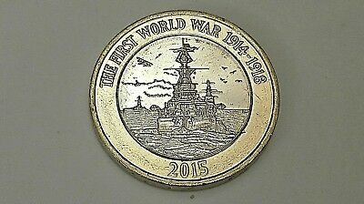 UNCIRCULATED 2015 Royal Navy HMS Belfast £2 pound coin + Flag Error
