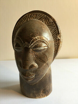 Vintage African Shona Stone Sculpture Hand Carved, Early Zimbabwe Tribal Art