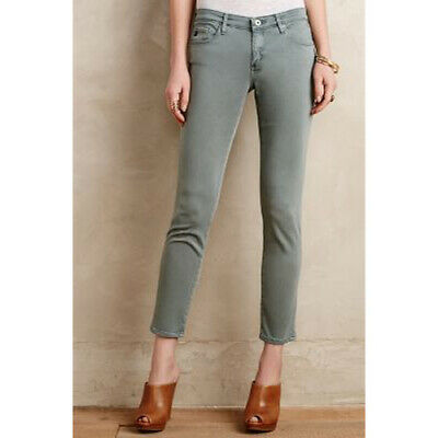 a4d2fababd21 AG 26 Stevie ankle sateen Sulfur Sage Cliffs green jean pant Adriano  Goldschmied