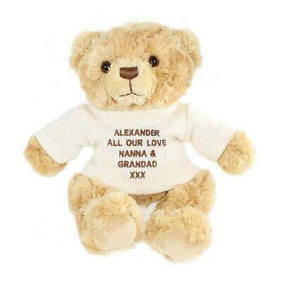 Personalised Teddy Bear Gift Toy Christmas Birthday Mothers Day Fathers Day