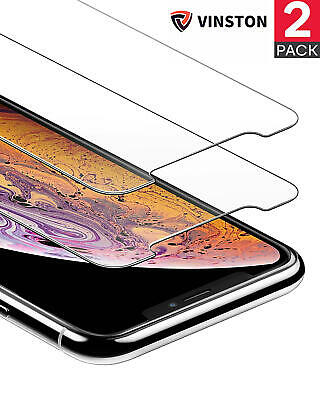 2x Premium Gorilla Tempered Glass Screen Protector For iPhone XR X XS MAX 5D 9H