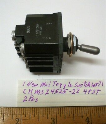 EATON SEALED  TOGGLE SWITCH  4PST #8522K9  ON C-H OFF  18 AMPS 115vAC  NOS