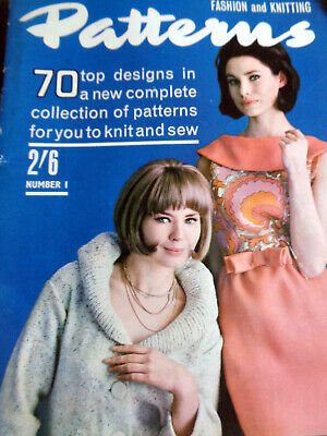 Vintage Magazine Fashion & Knitting Patterns #1 April 1964