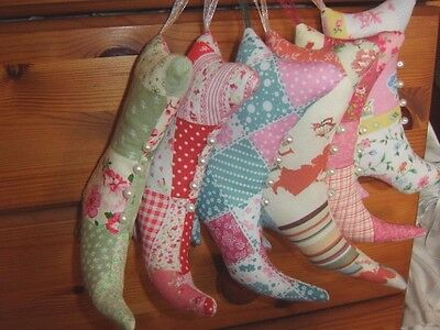 Shabby Chic Victorian Boot Sm Hanging Cushion Door Hanger Decoration Patchwork