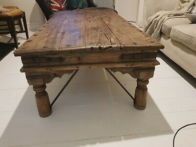 Antique indian mahogany large coffee table