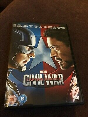 Marvel MCU CAPTAIN AMERICA CIVIL WAR DVD UK Region 2 Avengers Scarlett Johansson