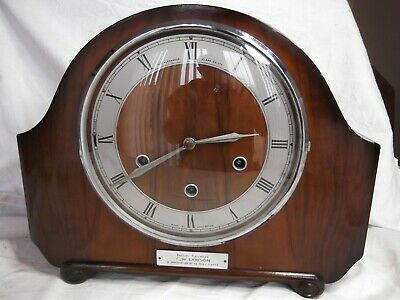Smiths 8 Day Clock with Westminster Chimes. Floating Balance Mvmt. B.R. Clock.