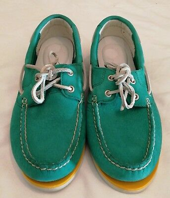 TIMBERLAND Earth keepers Suede Leather Deck Moccasin Green uk 5.5 eu 38.5