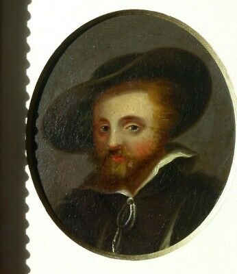 Fine Original 18th Century Painting, Portrait of a Man in a Hat After Rembrandt